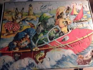 Kolibri 676-1 Dieren in reddingsboot de Mermaid 5-8 jaar 2