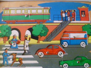 Kolibri 9771 - PuzzlePlank - Het verkeer 2
