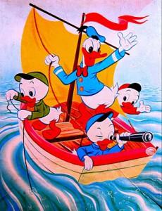 kolibri 0183 35s Donald met neefjes in zeilboot 1
