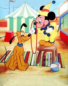 kolibri 0383 disney mickey en pluto in het circus 1