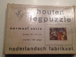 K Puzzle - Houten Legpuzzle - Normaal Serie - Cottage met bloementuin 1