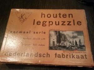 K Puzzle - Houten legpuzzle - Normaal Serie - Nederlandsch Fabrikaat - Haven met moskee 1