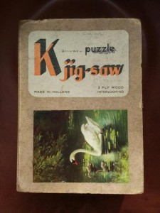 K puzzle jig-saw - Zwaan met 2 jongen 1