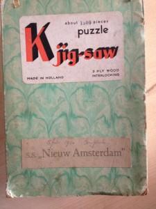 Klaus Kjig-saw SS Nieuw Amsterdam ca 1950