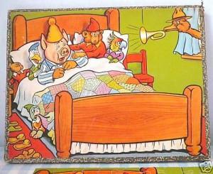 k puzzle 825 Dieren in bed worden gewekt 77s 5-9j 1
