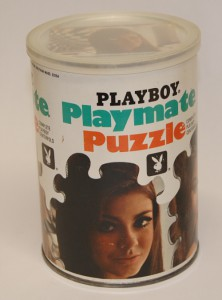 AP110 Cynthia Myers Playboy Playmate Puzzle Small Can AP110 1