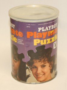 AP112 Mary Collinson Madeline Collinson Twins Playboy Playmate Puzzle Small Can AP112 1