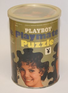 AP113 Jean Bell Playboy Playmate Puzzle Small Can AP113 1