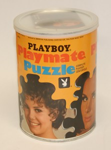 AP115 Jennifer Liano Playboy Playmate Puzzle Small Can AP115 1