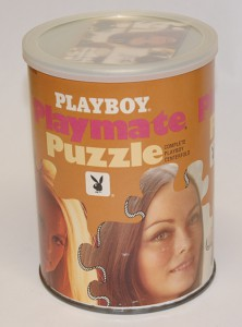 AP121 Deanna Baker Playboy Playmate Puzzle Small Can APO121 1