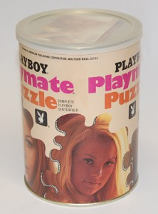 AP122 Karen Christy Playboy Playmate Puzzle Small Can APO122 1