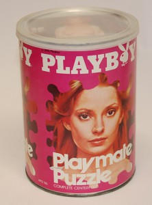 AP130 Cyndi Wood Playboy Playmate Puzzle Small Can APO130 1