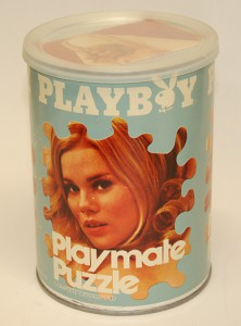 AP132 Barbara Hillary Playboy Playmate Puzzle Small Can APO132 1