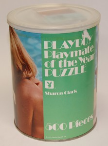 AP154 Sharon Clark Playboy Playmate Puzzle Large Can AP154 1