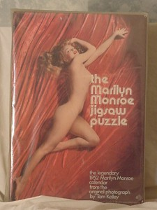 Playboy Playmate Puzzle 1973 Marilyn Monroe Golden Dreams pose 1