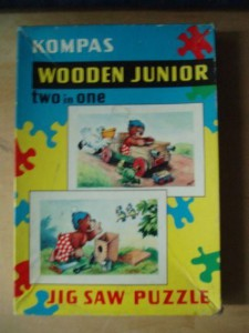 Kompas Wooden Junior - Pol Puzzle - 2 in 1 1