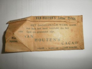 Reclame puzzle - Van Houtens Cacao 1