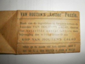 Reclame puzzle - Van Houtens Cacao 2